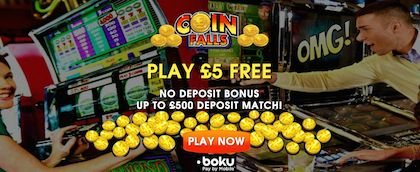 CoinFalls Mobile Casino no Deposit