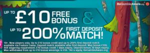 signup and deposit match bonus offer