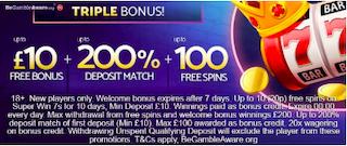 signup bonus + deposit match offer
