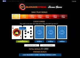 blackjack eXtreme facebook screenshot
