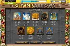 facebook.com-slotoloto-olympus-arrows-paytable