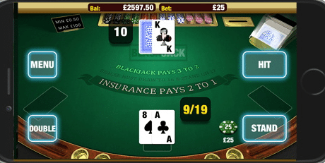 CoinFalls Mobile Casino Blackjack