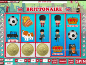 free spins brittionaire slots