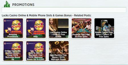 Lucks Mobile Casino Slots