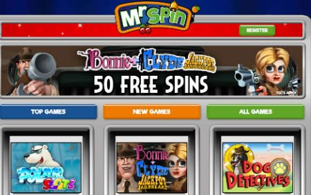 Earn 50 Free Spins at Mr Spin Casino