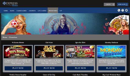 Express Casino Mobile Slots Free Bonus