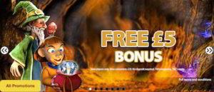 get £5 free mobile casino no deposit bonus