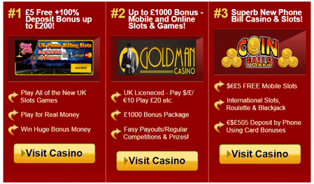 Top Casino Bonuses At Casino Phone Bill