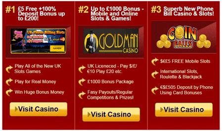 Top Casino Bonuses At Casino Phone Bill