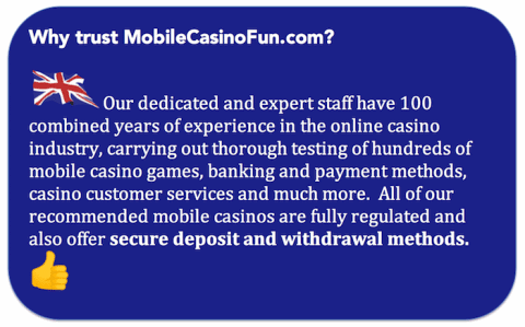 mobile casino trusted offers